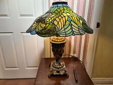 Tiffanys Style Leaded Glass Table Lamp, H 60cm