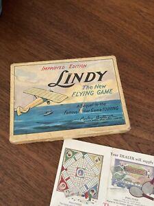 Antique Vintage Lindy Flying Card Game Parker Brothers 100% Complete 1927