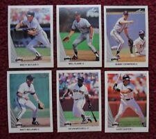 1990 Leaf San Francisco Giants Baseball Team Set (21 Cards) ~ Will Clark CARTER