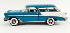 New ListingFantastic Franklin Mint 1956 Chevrolet Bel Air Nomad Teal 1/24 Scale Die Cast