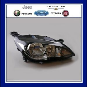 Genuine Peugeot 308  2013/- Headlamp  RH Drivers Side O/S Halogen 9800553180
