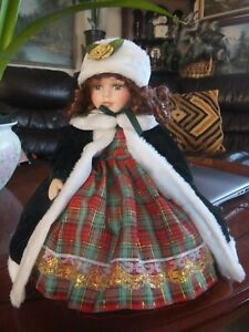 Beautiful Doll Porcelain Face & Hands with Music Inside & Moving Head