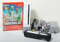 Nintendo Wii Game Console White GameCube Compatible RVL-001 Super Mario Brothers