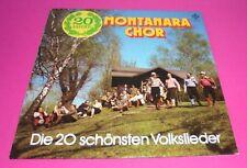 LP Montanara Chor die 20 schönsten Volkslieder,VG+,Telefunken Club Edition