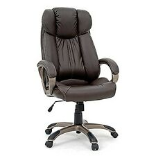 Sauder 411903 Executive Chair Leather Brown Seating Brown Finish New