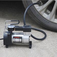 12V Mini Metal Pump Heavy Duty Air Compressor Tire Inflator Gauge 150PSI For Car