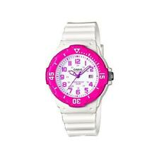 Casio Women's White Dial Fuchsia White Date 100M Resin Sport Watch LRW200H4BV