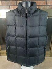 Eddie Bauer Goose Down Puffer Vest Collar Mens Size Medium EUC Black Full Zip
