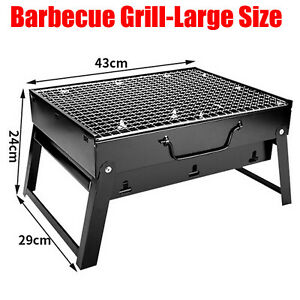 Portable BBQ Barbecue Grill Fire Pit Camping Charcoal Patio Party Garden Outdoor