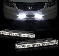 2 pcs Car ATV Daytime Running Light 8 LED DRL Daylight Kit White Head Lamp