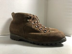 RAICHLE MEN'S BROWN SUEDE LACE UP HIKING BOOTS SIZE 12N