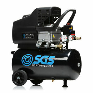 SGS 24 Litre Direct Drive Air Compressor - 9.6CFM, 2.5HP, 24L