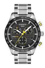 Tissot PRS 516 Chronograph (T100.417.11.051.00) Men's Stainless Steel Wristwatch with Black Dial