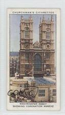 1937 Churchman's The King's #14 Westminster Abbey Showing Coronation Annexe 1s8
