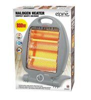 800W Portable Electric Halogen Heater Instant Heat 2 Bars Free Standing Quartz