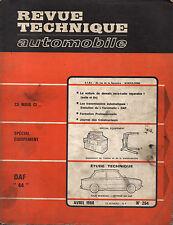RTA revue technique automobile n° 264 DAF 44 1968