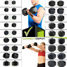 PAIR CAST IRON Rubber-Coated Hex Dumbbells CAP Barbell Weights Home Workout Gym
