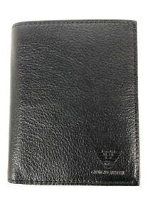 Giorgio Armani Men's Black Genuine Leather Wallet Multi Compartments #127