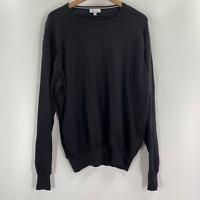 Peter Millar Mens Black Crew Neck Long Sleeve Pullover Sweater XL