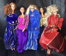 5 OSCAR de La RENTA Barbie Outfits on Hispanic Twirly Curls, Rocker Diva, Others