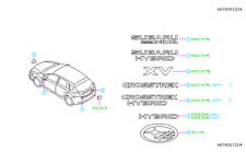 Genuine OEM Subaru XV Crosstrek Rear Tailgate Emblem  2013 - 2016 (J121SFJ750)