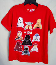 "LEGO SHORT SLEEVE RED ""STAR WARS"" TEE SHIRT BOY SIZE 8 NWT"