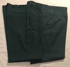 Vtg NOS 44x34 Men's Work Pants Wards Powerhouse Trousers 2 Prs Dk Bl-Gr No Iron
