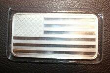 Stars and Stripes Silver Flag 10oz Bar