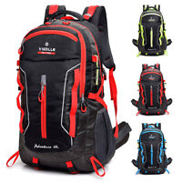 60L Outdoor Travel Hiking Backpack Laptop Compartment Waterproof Camping Daypack