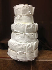 UNDECORATED 3 tier diaper cake Pampers Swaddlers!