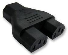 IEC C14 a 2x C13 Hervidor Y Splitter Adaptador de enchufe hembra a 2 X Tapones 1 A 2