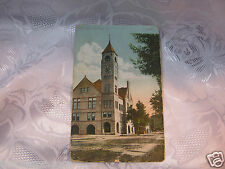 City Hall Clock Tower  Neenah Wi  Postcard