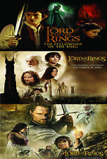 A2 laminated LORD OF THE RINGS movie poster fellowship two towers return king
