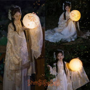 Women's Dress Ancient Costume Coat Tops Skirt Hanfu Han Dynasty Chinese Party