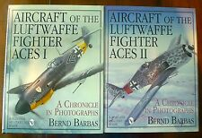 Aircraft of Luftwaffe Fighter Aces I + II SET by Barbas HBDJ 1995 Schiffer 1stEd