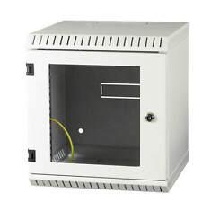 """10"""" Wandgehäuse Netzwerkschrank Serverschrank 6HE Tiefe 300mm grau ProfiPatch"""
