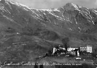 Cartolina Castellamonte Castello Conti San Martino  e panorama 1952