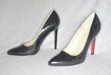 """Highest Heel """"Hottie"""" black patent hi-heel pump - Size 12 w/ 5.25"""" heel - New"""
