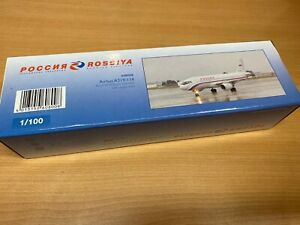 Herpa miniaturmodell Rossiya 1:100 Airbus A319-114 Rossiya Russian Airlines