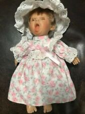 """Vintage Berenguer Jc Toys 9"""" Yawning Baby Girl with Eyes Closed"""