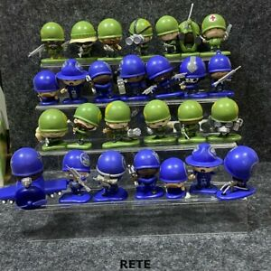Random 5x  Awesome Little Green Men Soldiers Blue Green Army Series 1 2 Kid Toys