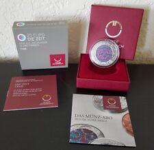 with Case and COA Time 2016 Silver Niobium Bimetallic Coin Austria Mint