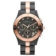 BRAND NEW MARC JACOBS BLADE BLACK TWO-TONE LADIES MBM3180 CHRONOGRAPH WATCH