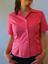 Vintage retro true 50s unsued 10 S SW red cotton check top blouse
