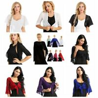 Women's Daily Cardigan Warm Shrug Belly Wraps Open Front Cover Up Bridal Shawls
