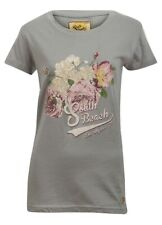 """South Beach Los Angeles"" Ladies Grey Floral T-Shirt  - Sizes - UK 6/8/10/12"
