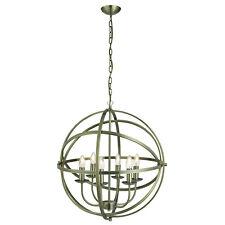 Orbit Antique Brass 6 Light Spherical Ceiling Pendant Light Fitting Home Lights