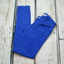 Forever 21 Womens Size Small Low Rise Distressed Skinny Pants Cobalt Blue Jeans