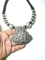 Necklace Banjara Tibetan India Ethnic Brass Tribal Jewelry Mixed Metals Resin