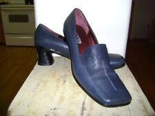Moda Spana Navy Leather Professional short heel Sz 10